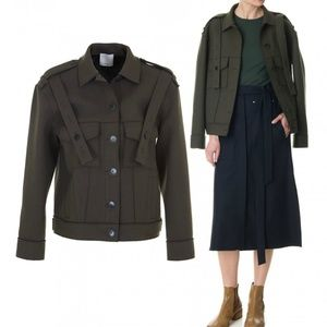 NEW Tibi Military-Admiral Relaxed Fit Jacket